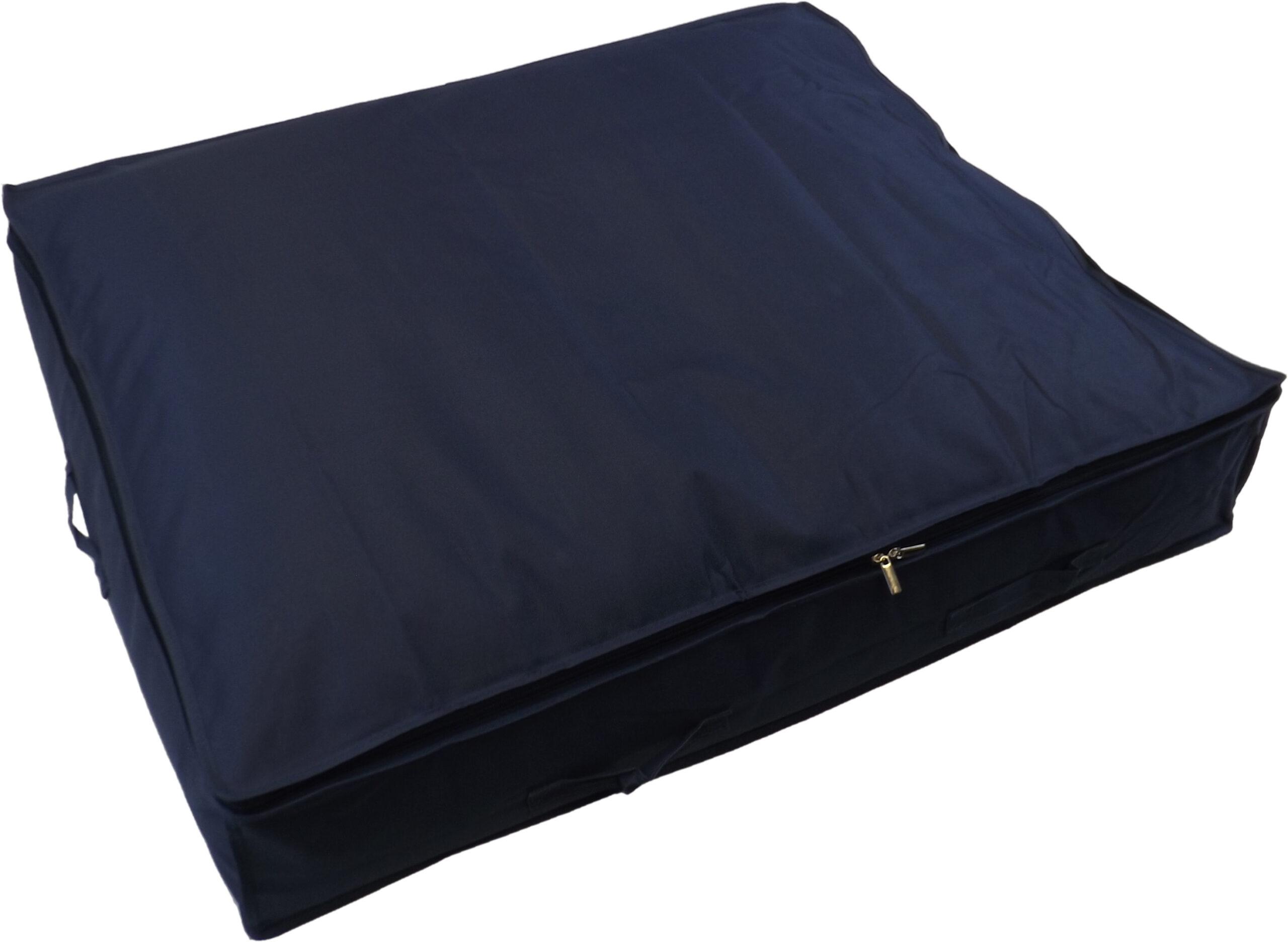 Extra Large Underbed Storage Bag, Heavy Duty, 130 Litre Capacity, 96x78x18cm, Blue
