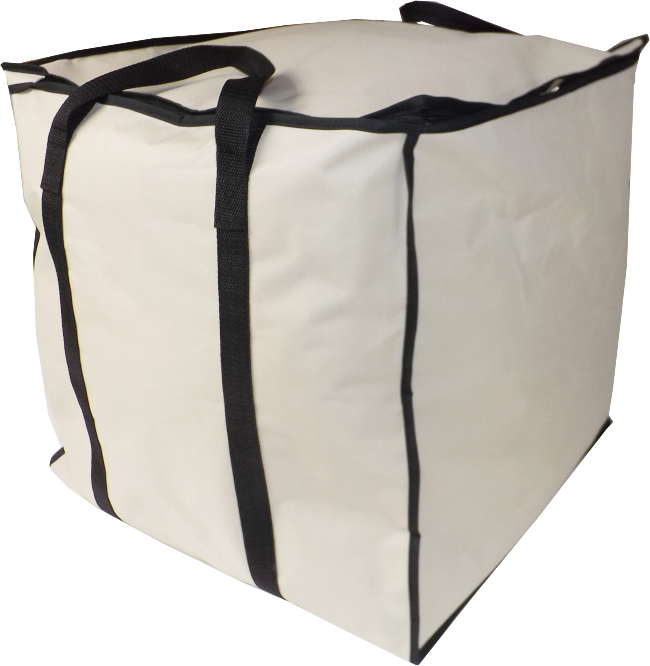Large Bedding Storage Cube Bag With Strong Handles, Heavy Duty, 100 Litre Capacity, 47x47x47cm, Beige