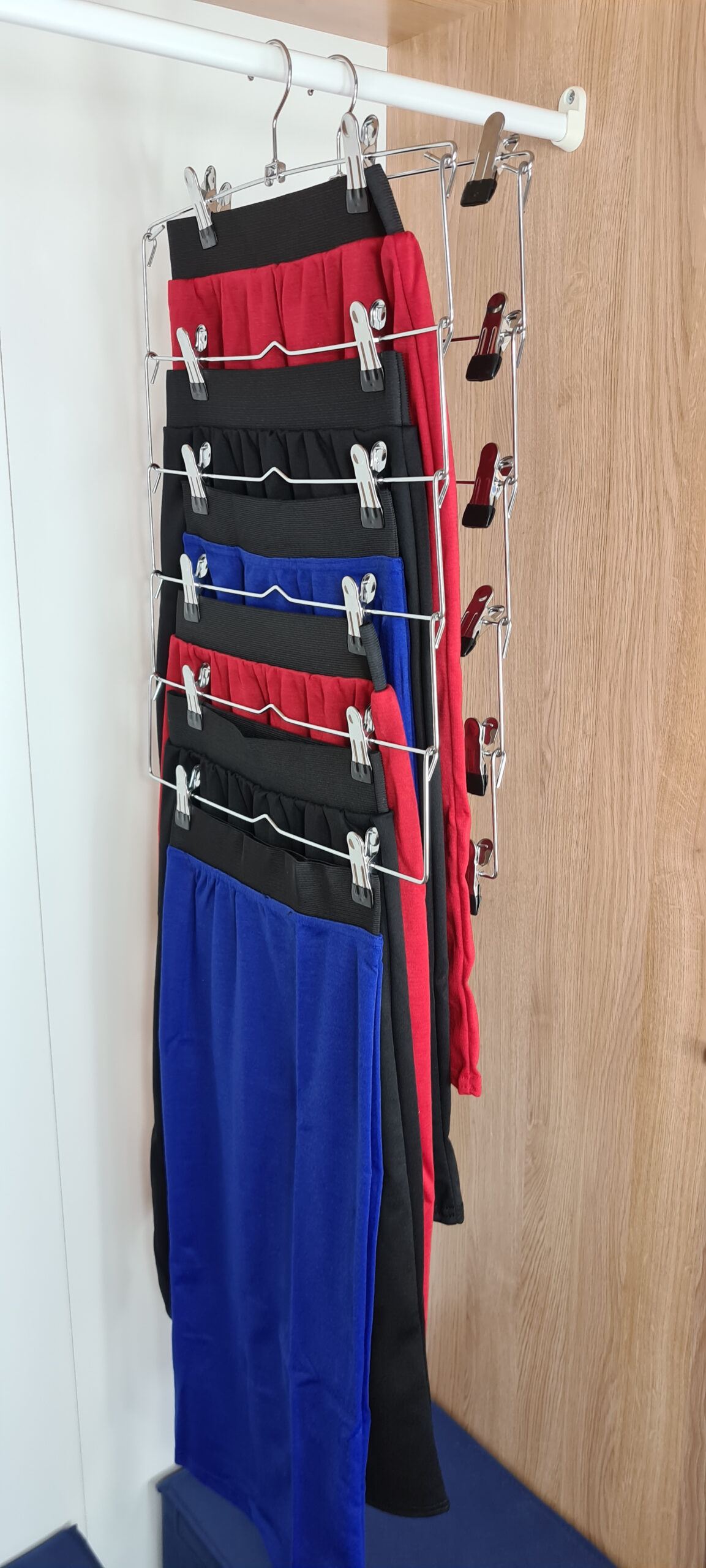 Space Saving Metal Multi Skirt Hangers, 2 Pack, 6 Skirts Each Hanger