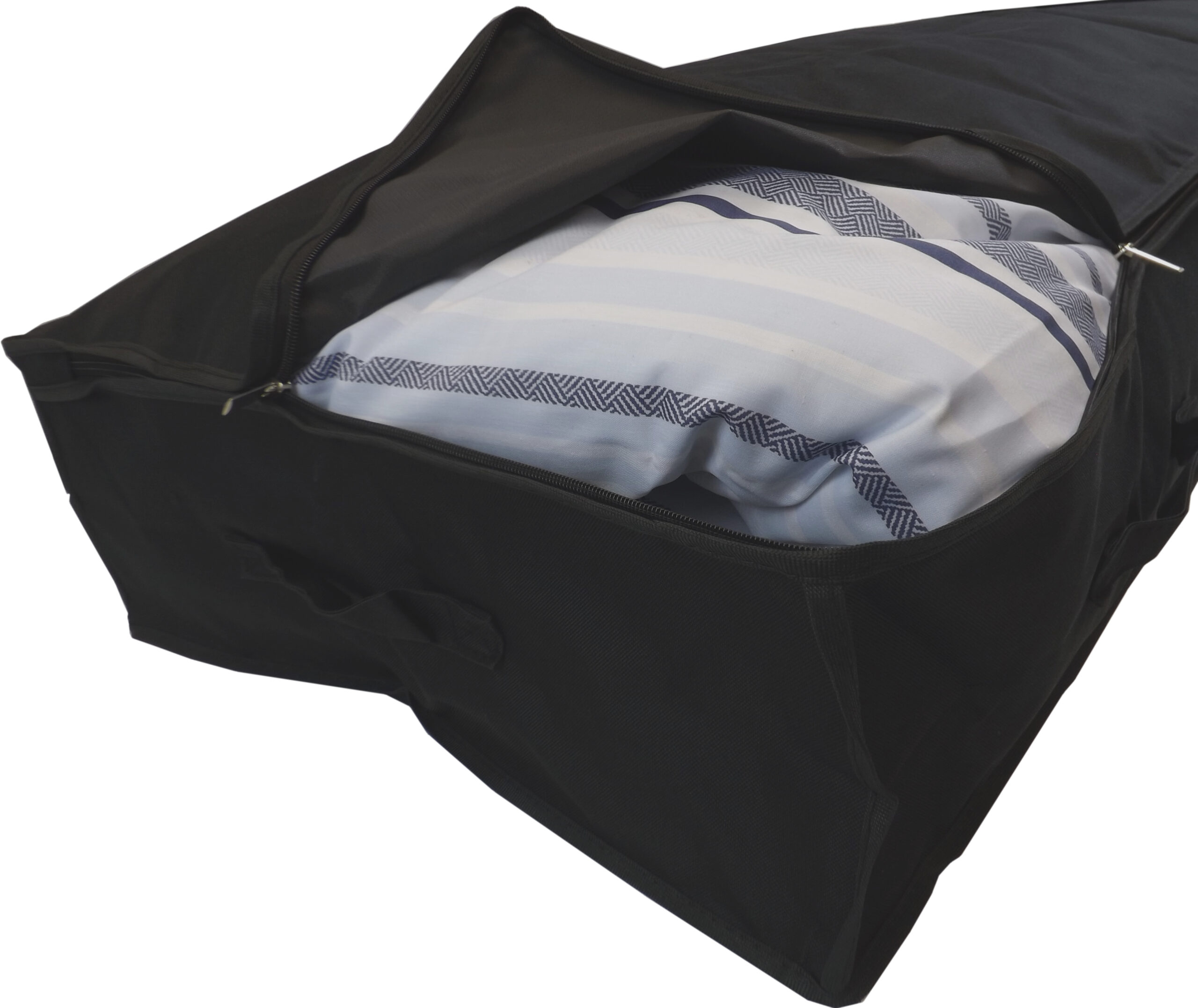 Large Underbed Storage Bag, Heavy Duty, 85 Litres Capacity, 100x48x18cm, Black
