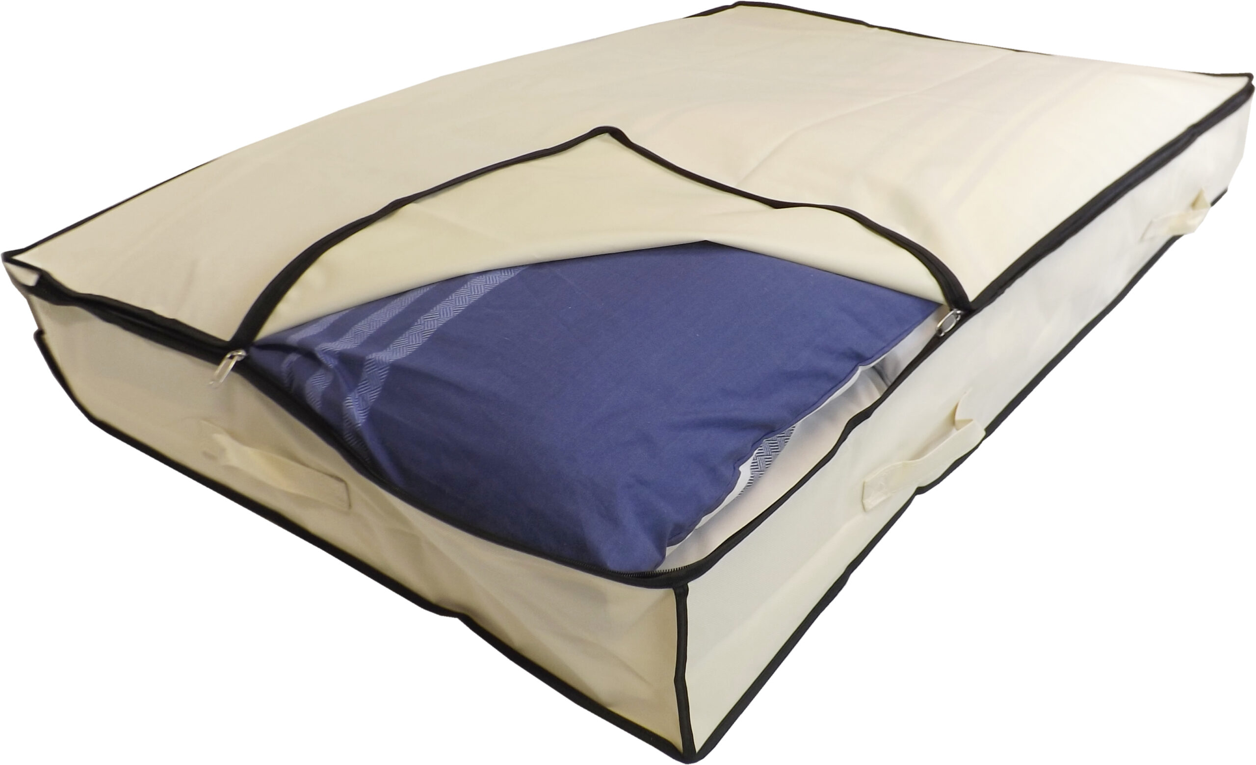 Extra Large Underbed Slimline Storage Bag, Heavy Duty, 150 Litre Capacity, 125x80x15cm, Beige
