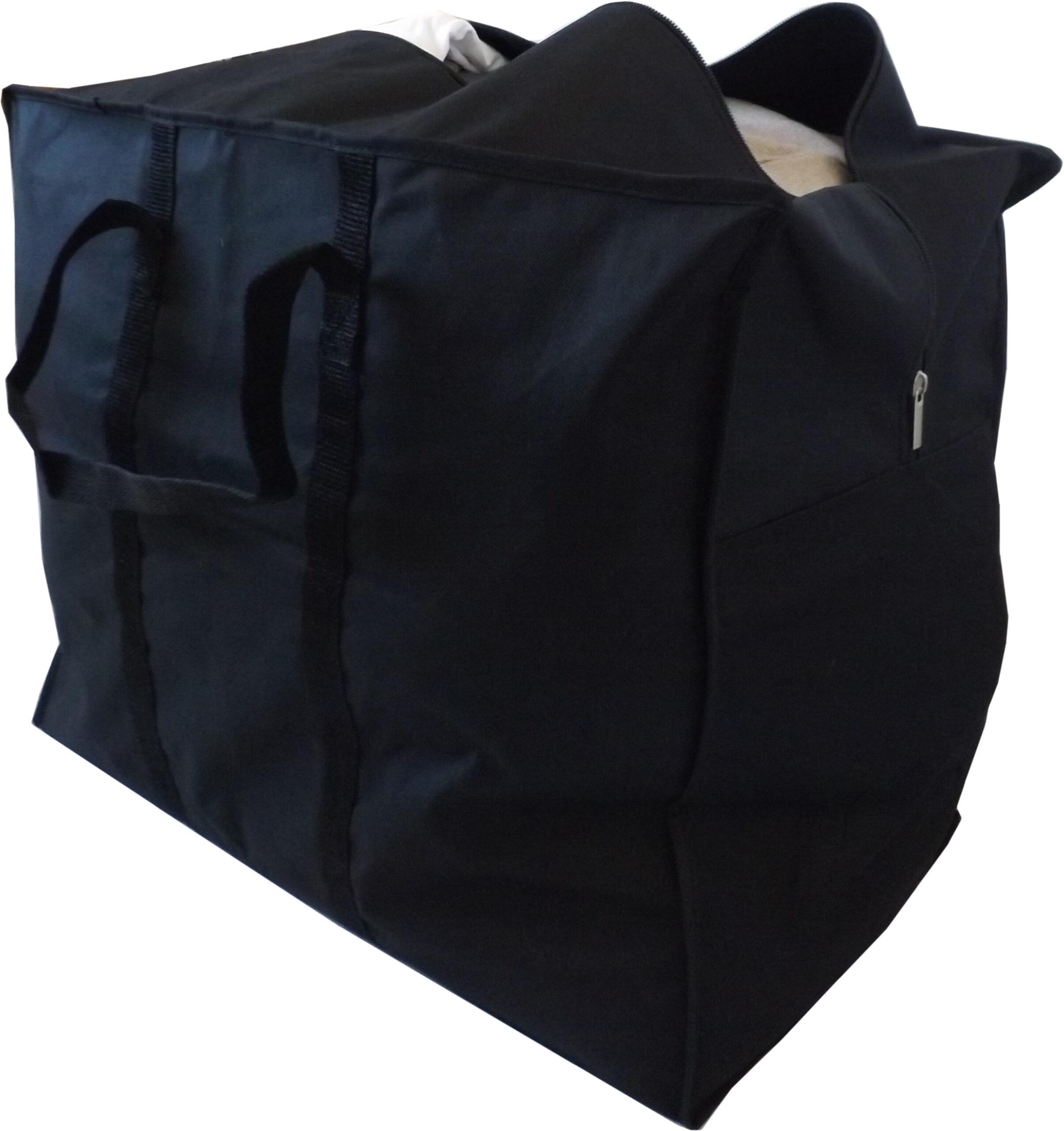 Medium Clothes Storage or Travel Bag, Heavy Duty, 70 Litre Capacity,  55x45x30cm, Black